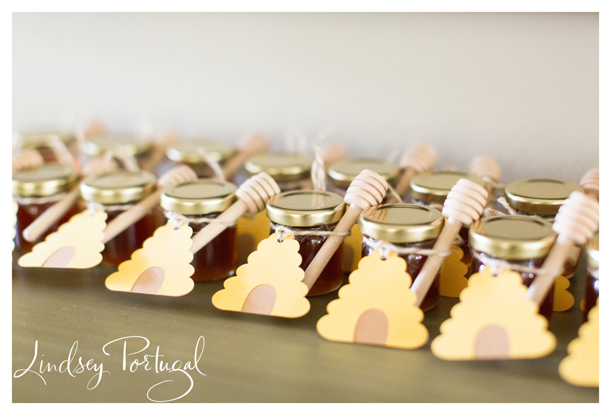Bee themed gender reveal party favors