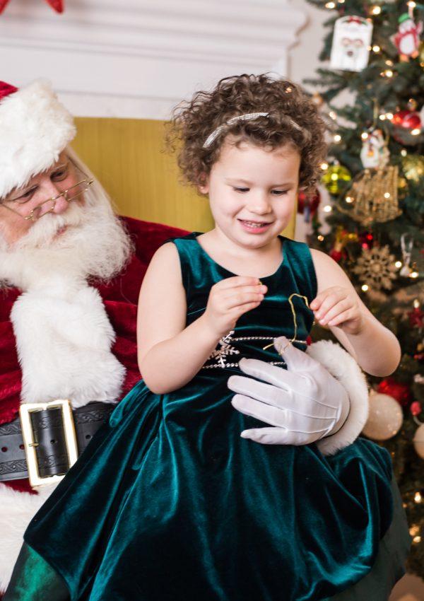 Noelle's Annual Santa Photo